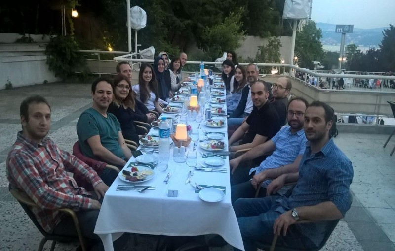Group members celebrated the end-term with a Ramadan dinner (iftar).